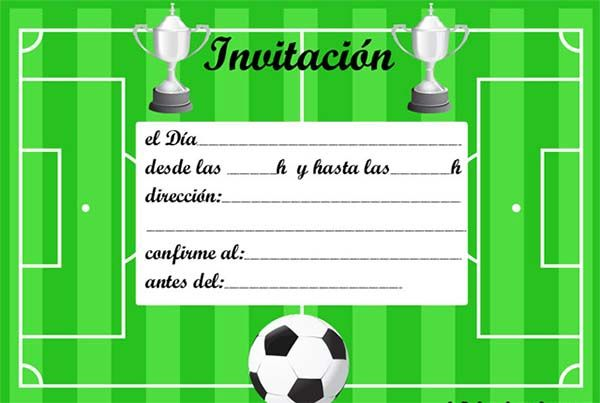 Invitaciones de cumpleaños de futbol para imprimir gratis cumple Pinterest Fiestas and