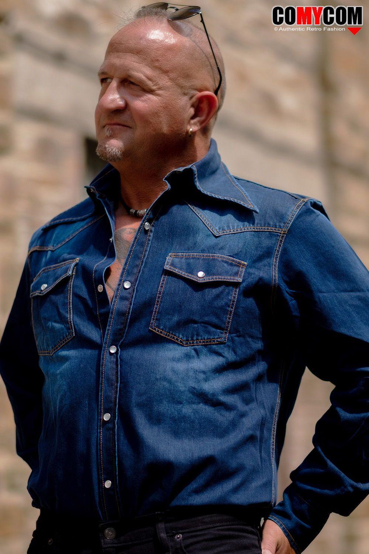 70er Jahre Jeans Hemd Retro Hippie Look Retro Hemden Hippie