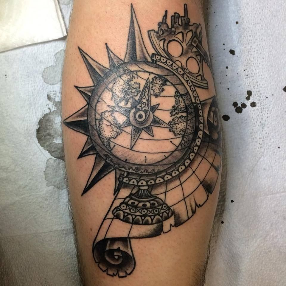 63 crazily stylish travel tattoos ideas to inspire the wanderlust wanderlust travel tattoo voltagebd Image collections