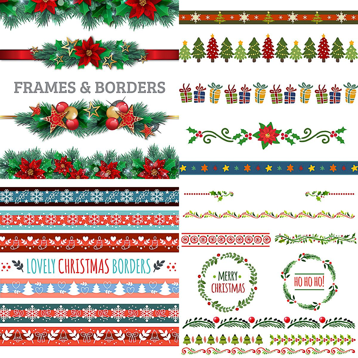 Christmas Graphics Free Download.Cute Merry Christmas Borders Clip Art And Ornaments Free