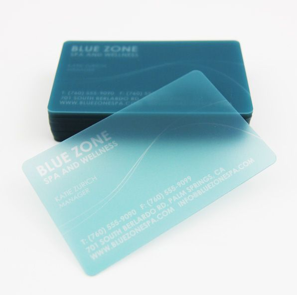 Clear Frosted Plastic Cards Business Cards Creative Graphic Design Business Card Clear Business Cards