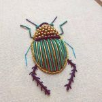 Ornate Insect Embroideries by Humayrah Bint Altaf Incorporate Antique Materials and Metallic Beads #insects