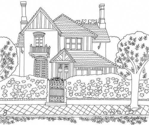 10 ร ปภาพระบายส บ าน หล งเด ยว บ านต ก บนต นไม ม ครบจ า วาดร ปดอทคอม Coloring Pages Nature House Colouring Pages Coloring Books