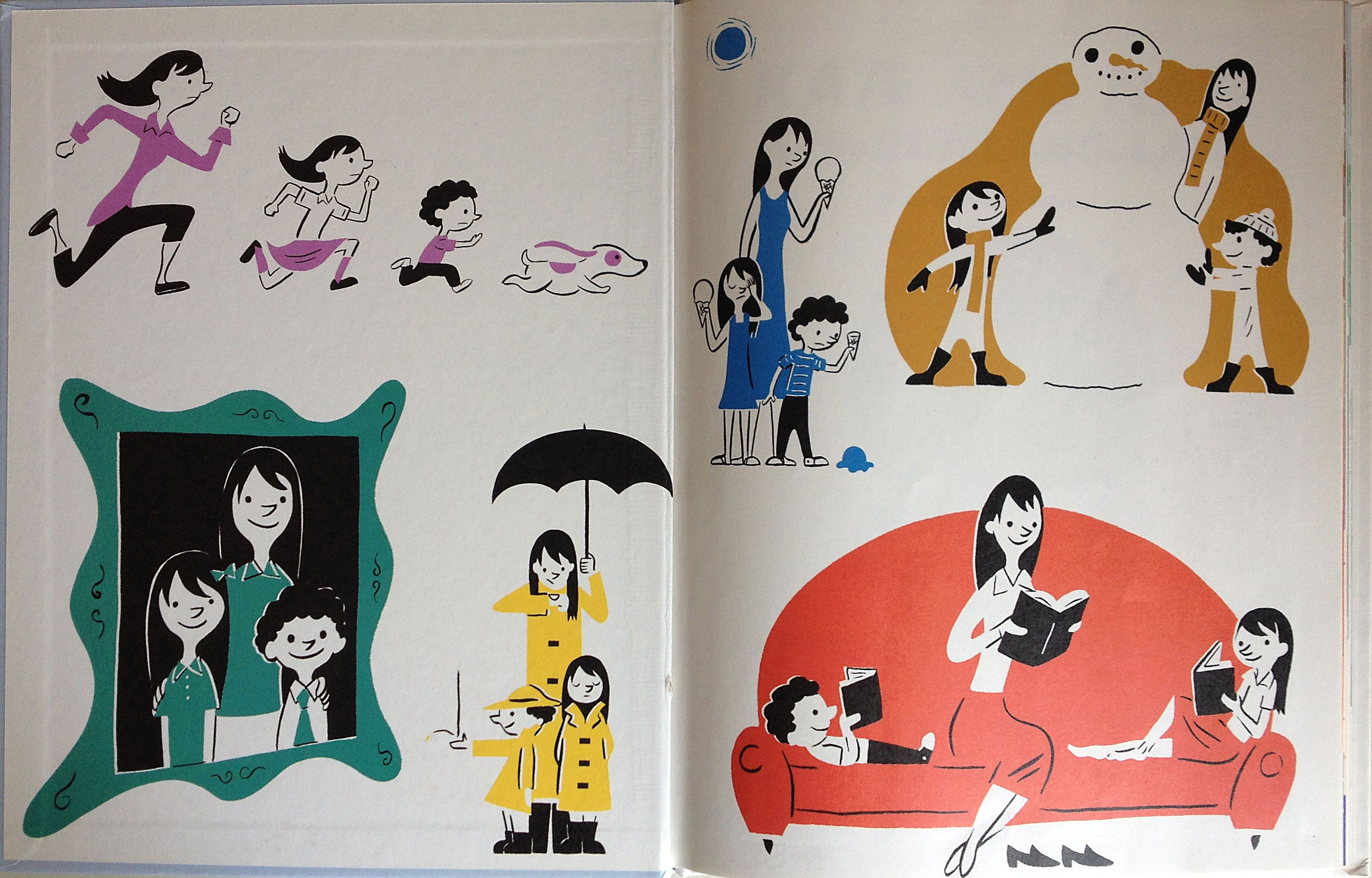 Endpapers From Kate And Nate Are Running Late Egan Illustrated By