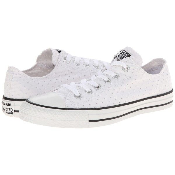 3df9c89a0aba Converse Chuck Taylor All Star Perfed Canvas Ox Women s Shoes (£35) ❤ liked  on Polyvore