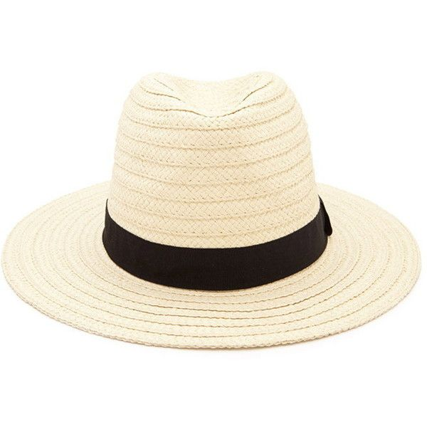 ce2b5a36b49 Forever 21 Women s Straw Fedora ( 15) ❤ liked on Polyvore featuring  accessories