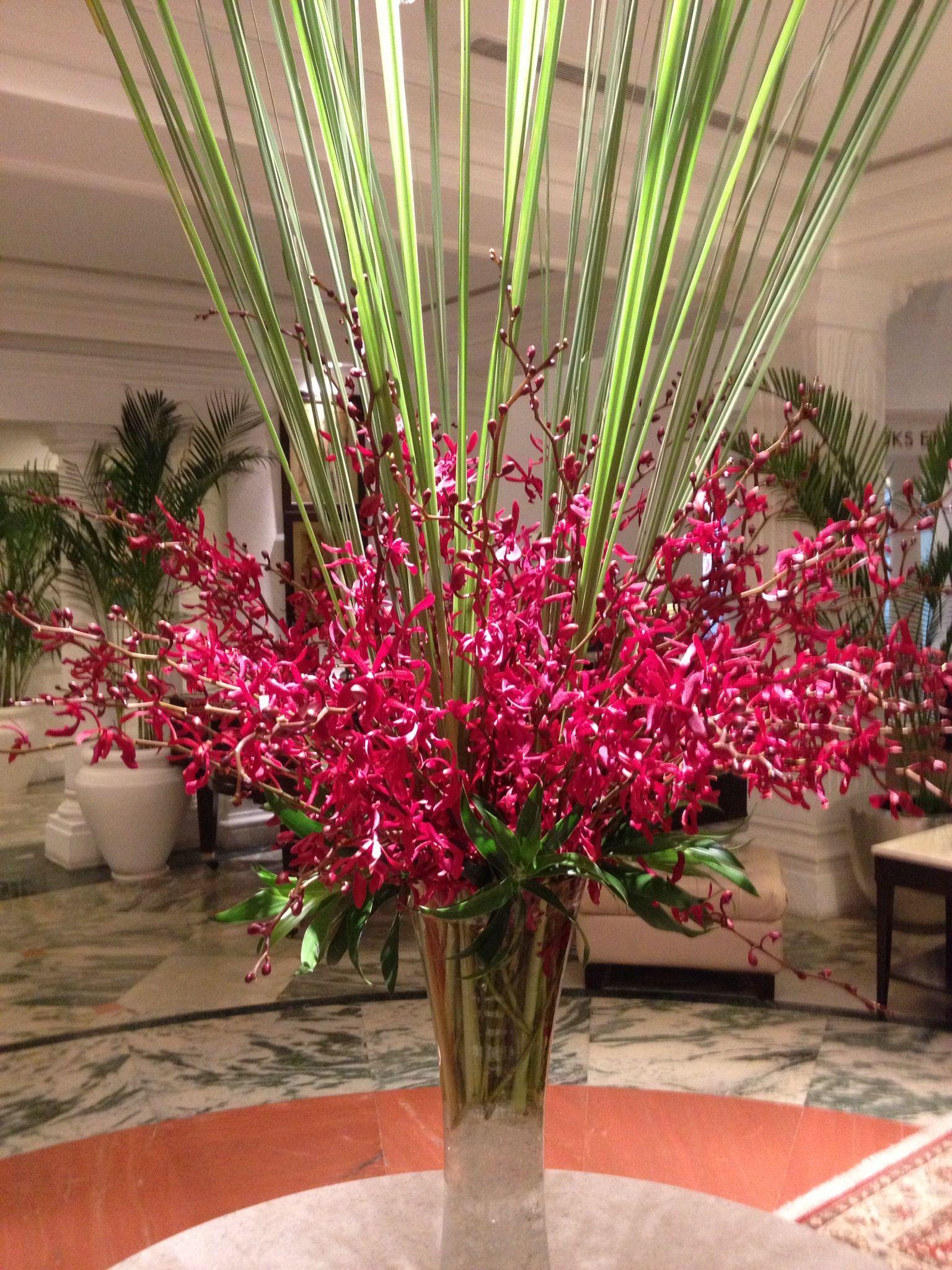 Claridges Hotel Tropical Flower Arrangements Hotel Flowers Flower Arrangements