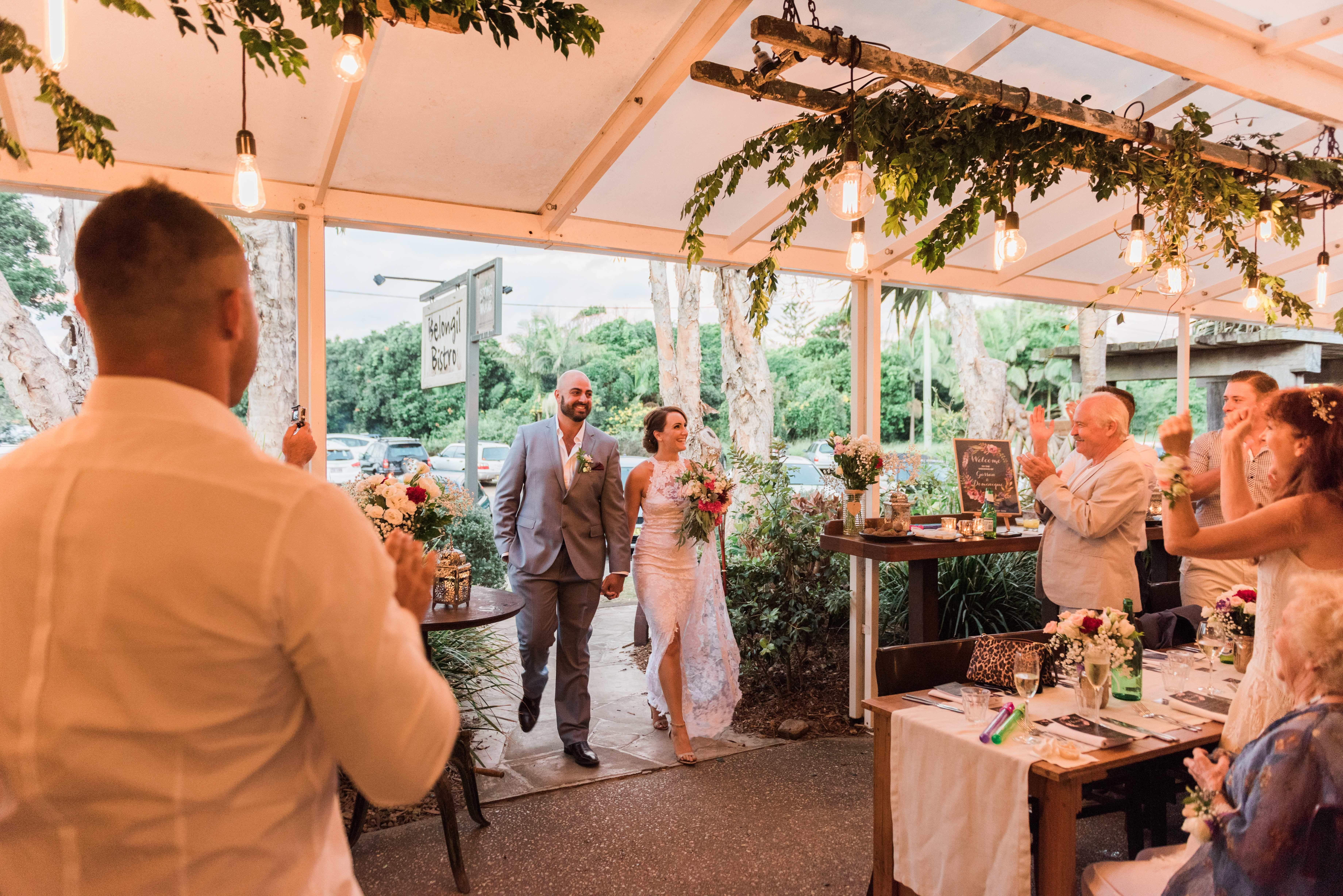 Dominique Gassans Belongil Bistro Byron Bay Wedding