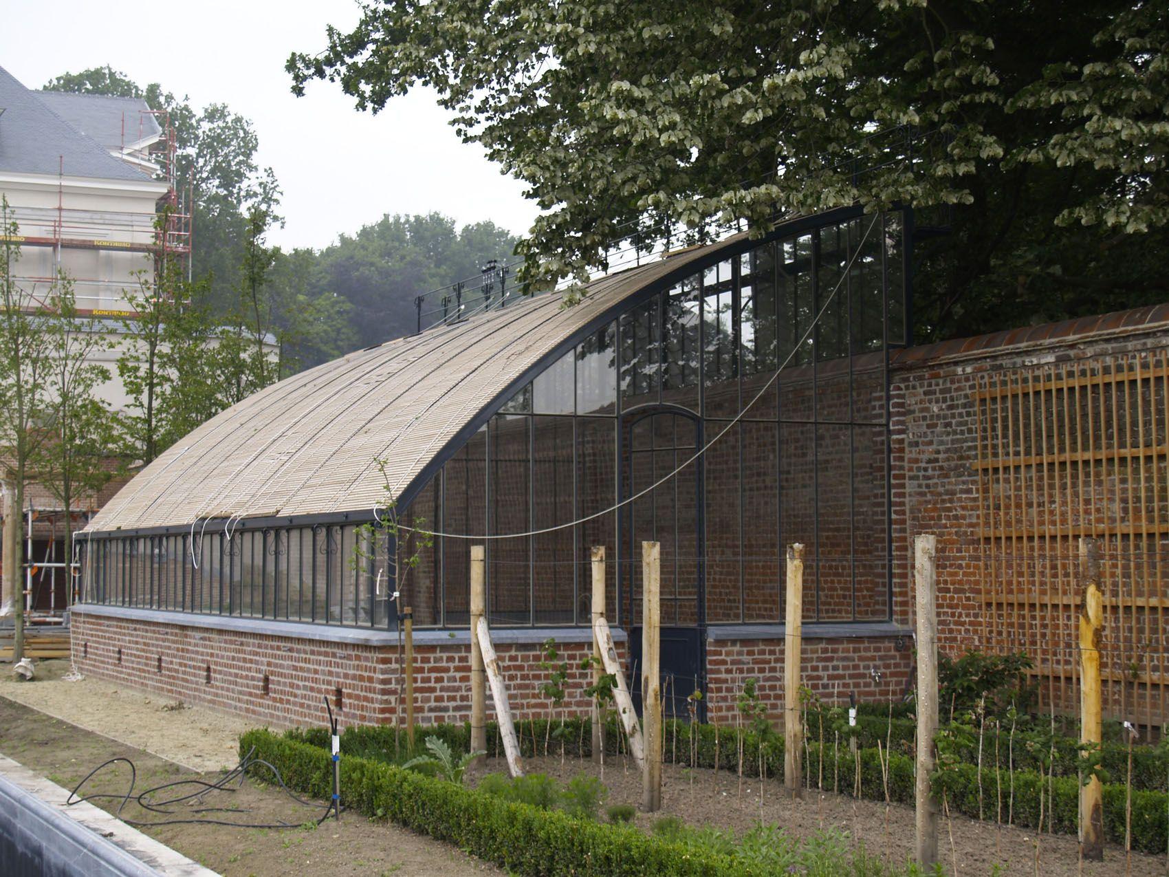 Serre adoss e acier 2 jardin bucolique pinterest projets - Serre adossee ancienne ...