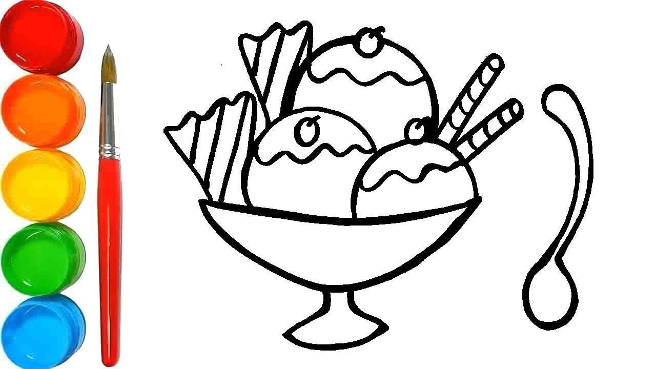 Menggambar Dan Mewarnai Es Krim Warna Warni Untuk Anak Anak