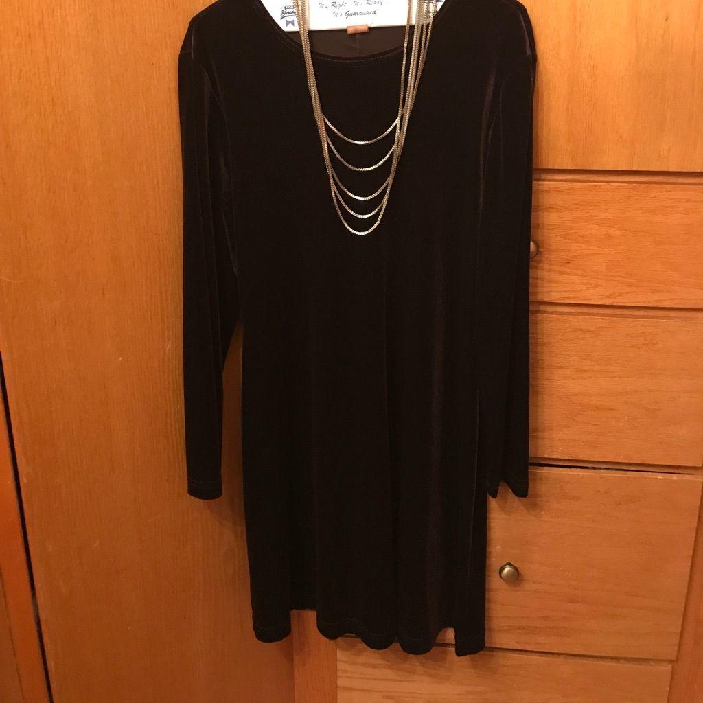 Dark brown velvet swing dress dark brown and products