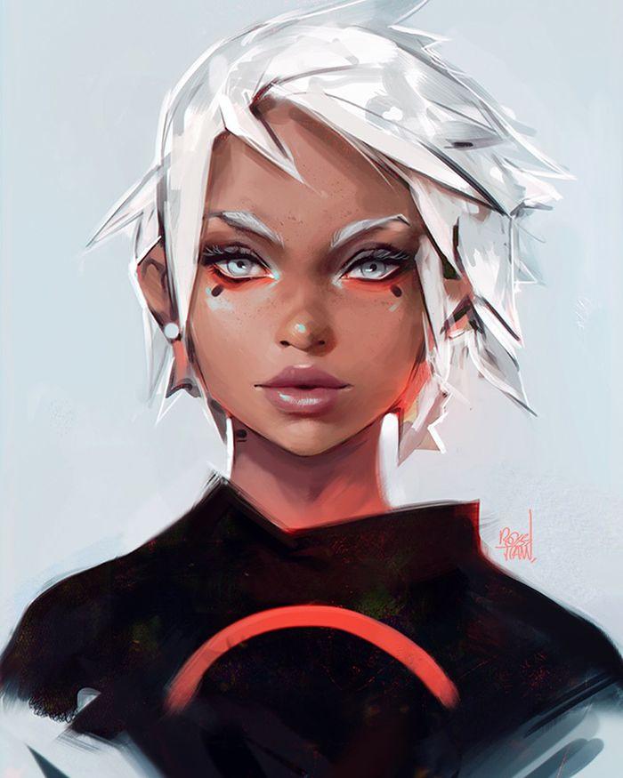 Crimson By Rossdraws Digital Painting Female Character Design Portrait Inspirational Art Female Character Design Trans Art Character Design