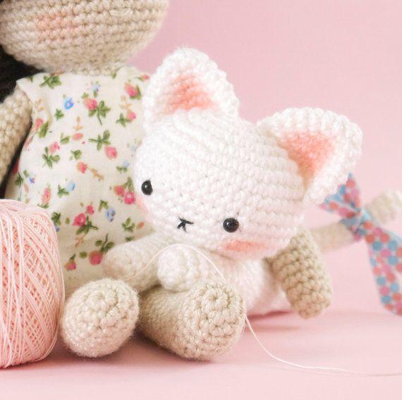 Amigurumi Crochet Cat Pattern Only English Crochet Cat Pattern