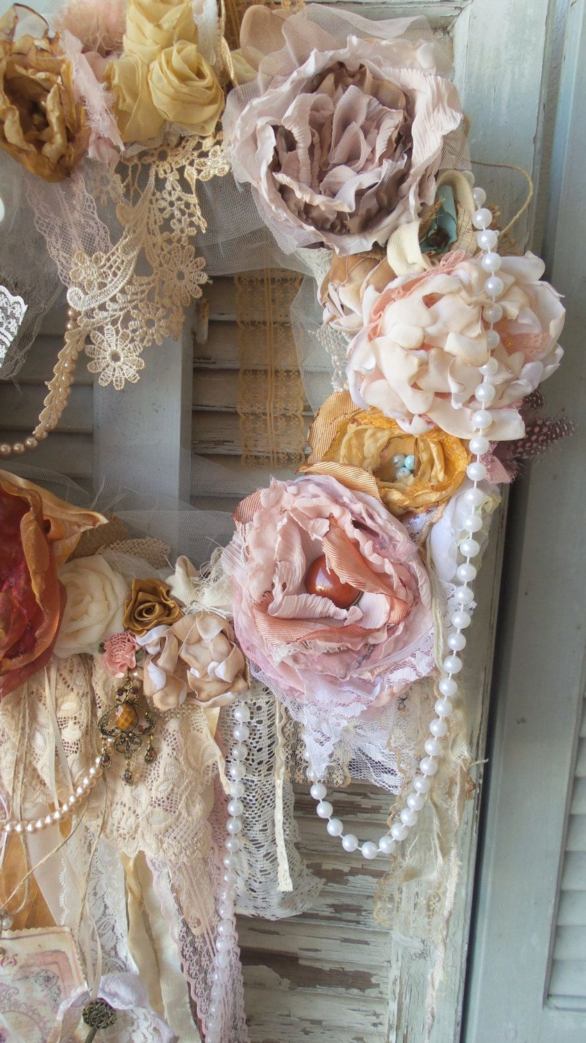 Rustic Shabby Rustic Wreath Country House Wreath Valentine