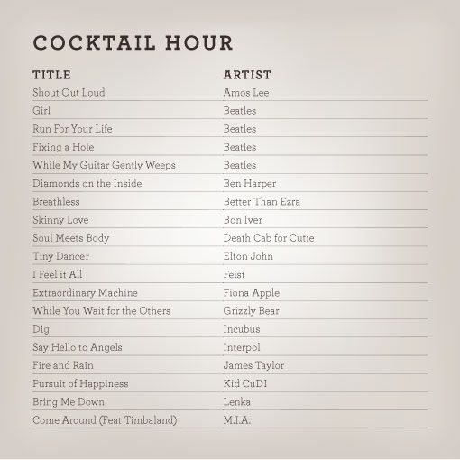List Of Wedding Songs: Wedding_playlists_cocktail
