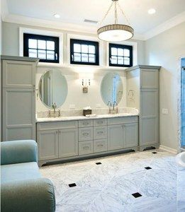 Double Vanity And Linen Cabinet Combo Rta Kitchen Cabinets Bathroom