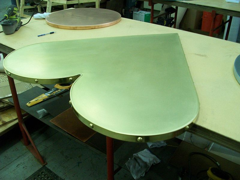Brass Heart Shaped Dining Table Top