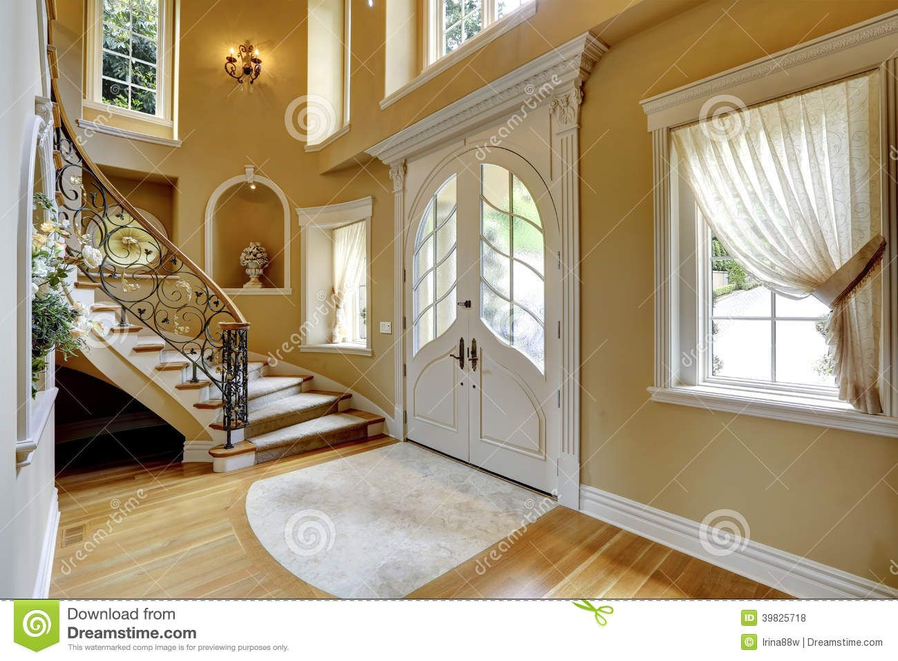beautiful home entrances with curved stairs - Google Search ...