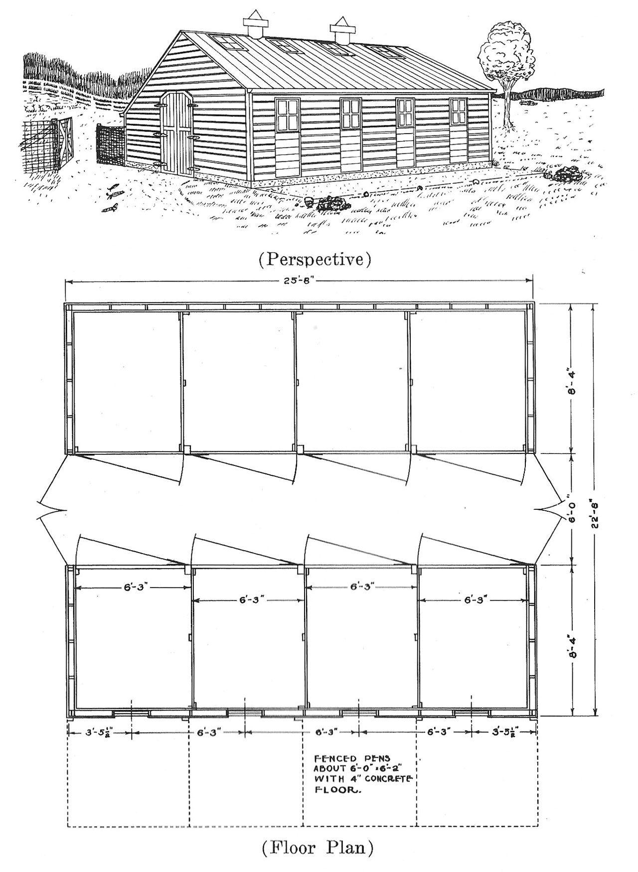 Plans For Hog Houses Small Farmer S Journal Pig House Shooting House Barn Plans