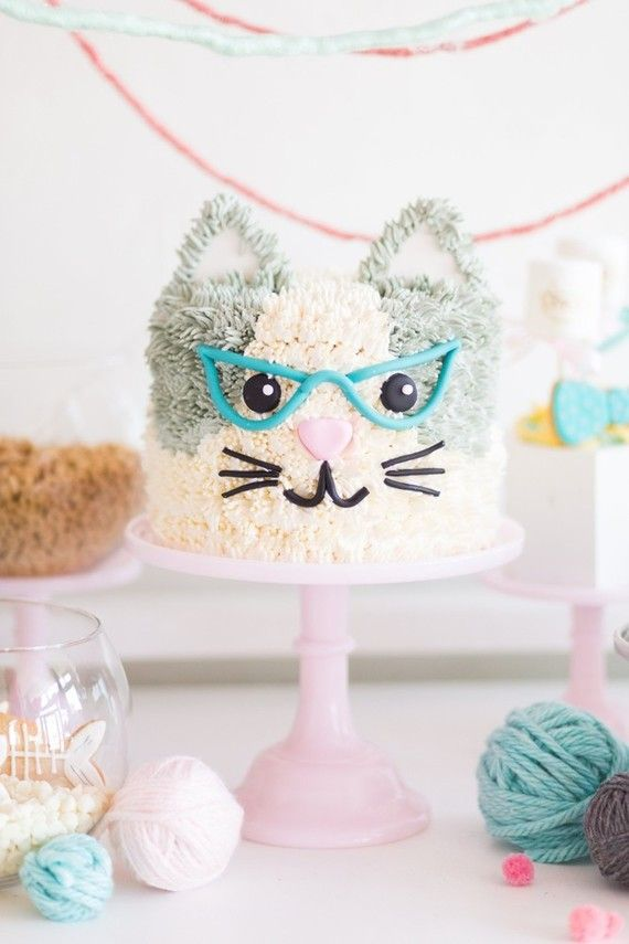 A kitty cat second birthday party with the most incredibly fun decor   Wedding & Party Ideas