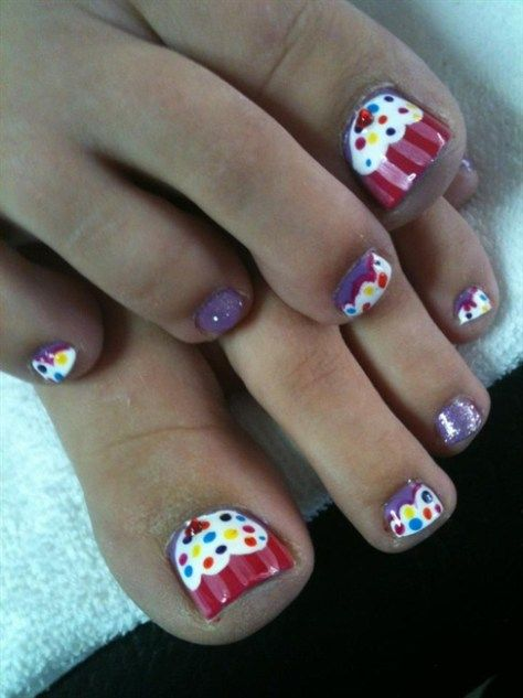 Amazing blue cupcake nail design for toe nails adorable pink amazing blue cupcake nail design for toe nails adorable pink cupcake toe nail art design beautiful prinsesfo Image collections