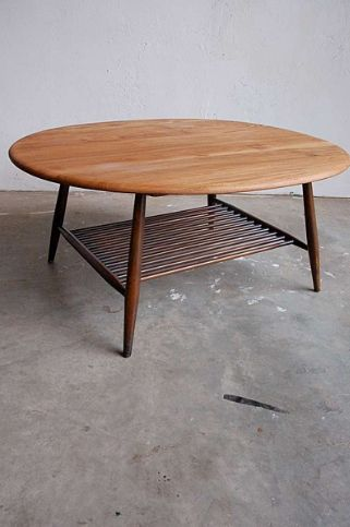 Ercol Oval Windsor Coffee Table With Magazine Rack Coffee Table