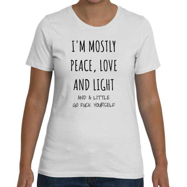 I'M MOSTLY PEACE LOVE AND LIGHT... Jersey Tee (4 colors)