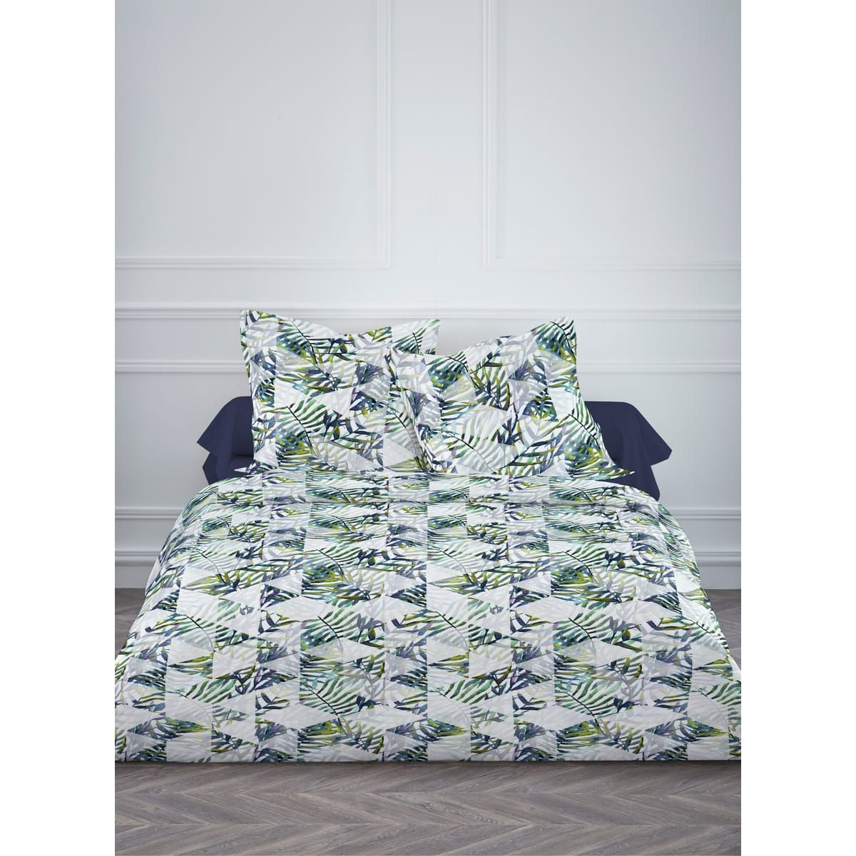 Parure housse de couette polycoton JUNGLE | Tropical Jungle ...
