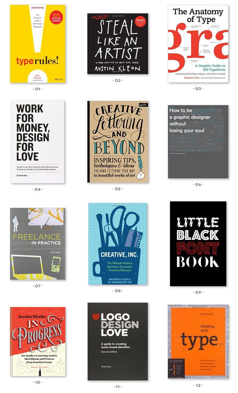 A Selection Of The Best Graphic Design Books Including Hand Lettering Fonts And Inspiration These Make Great Gifts For Your Creative Friends This Holiday