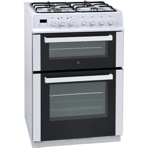 Iq 60cm Double Oven Dual Fuel Cooker White Prop Stuff
