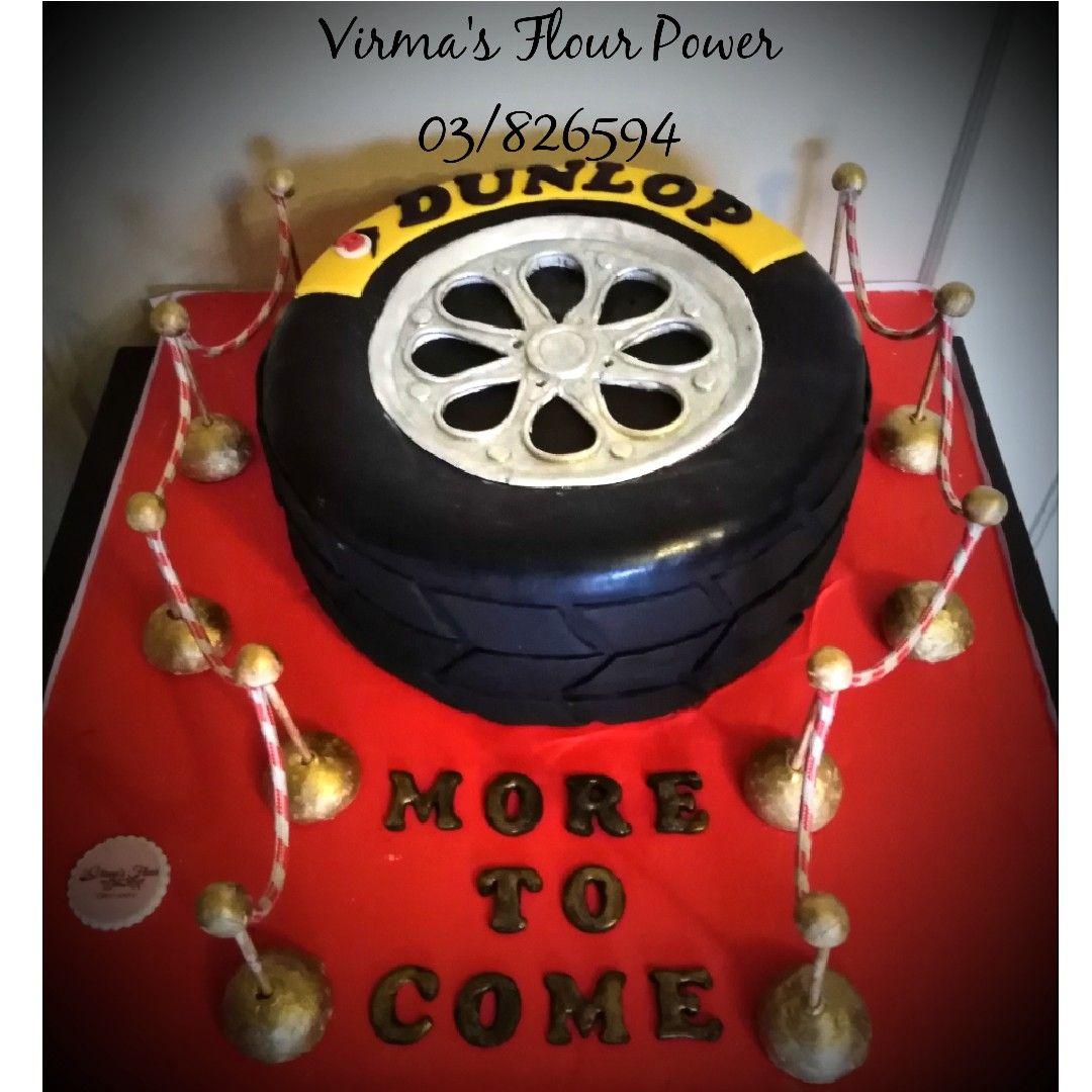 Dunlop Tire Dunlop Tyres Cake Birthday Cake [ 1080 x 1080 Pixel ]
