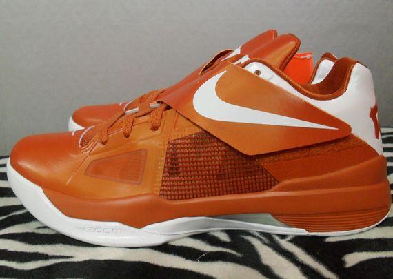 buy online 15bfc 09429 Nike Zoom KD IV Texas Longhorns