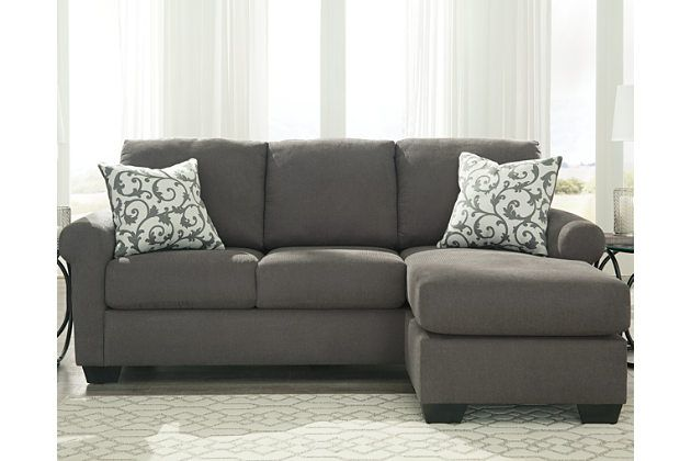 The Kexlor Sofa Chaise Sits Confidently In A Smoky Gray Color With