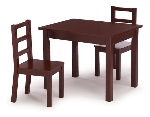 Discount Tot Tutors Kids\' Table and Chair Set, Espresso Wood ...