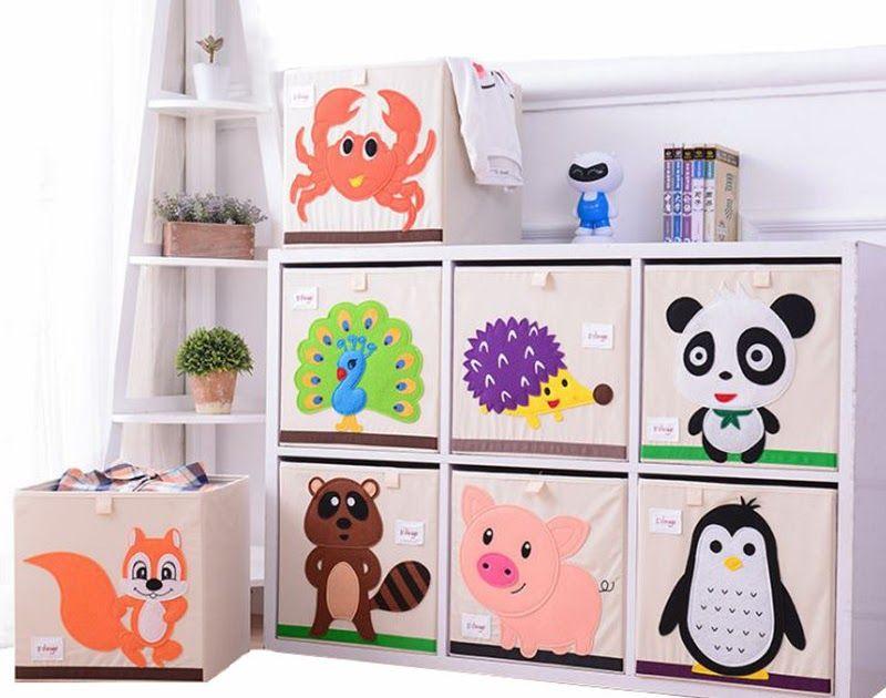 Buy Online Micck Embroidery Storage Box Cartoon Animal Folding Large