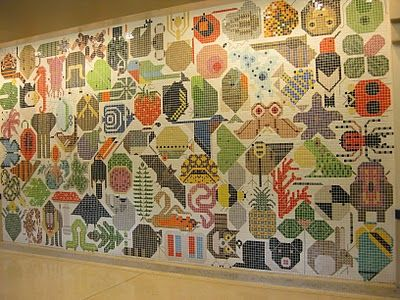 Charley Harper Mosaic Mural At Miami University In Oxford Ohio