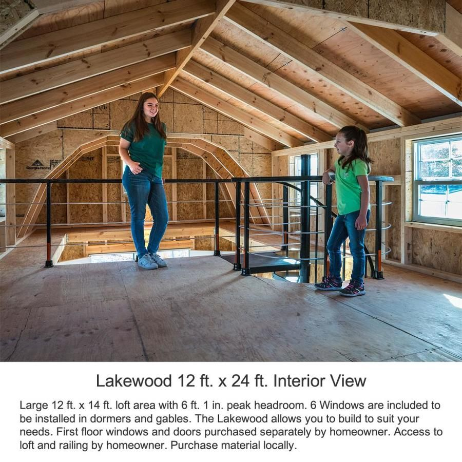 Best Barns Common 12 Ft X 24 Ft Interior Dimensions 11 42 Ft X 23 42 Ft Lakewood Gambrel Engineered Storage Shed Lowes Com Storage Shed Kits Wood Storage Sheds Shed Kits