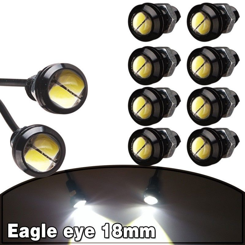10 X 9W 18mm 12V 24V White LED Eagle Eye Light Car Fog DRL Daytime Reverse
