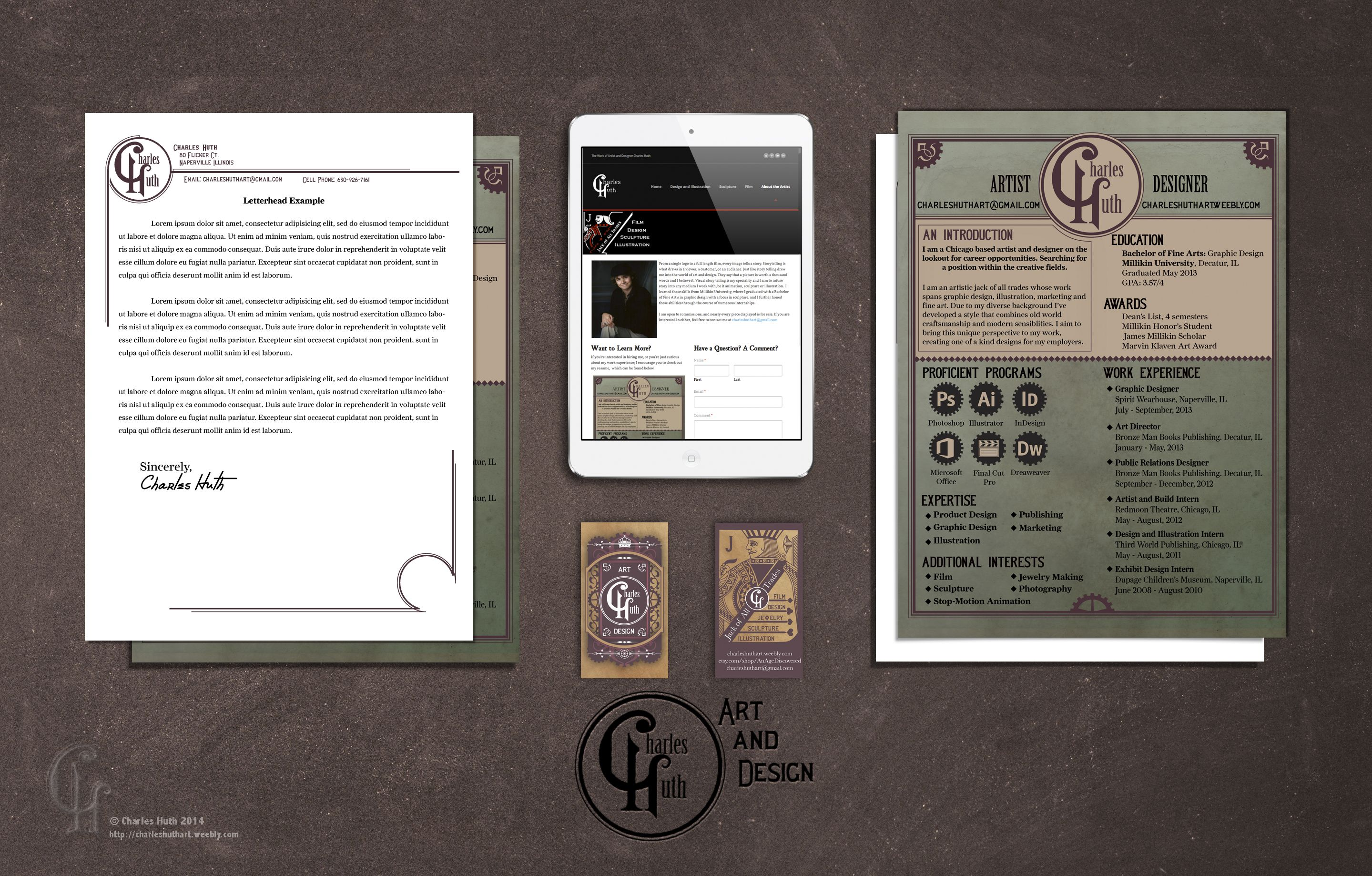 A Sample Of My Resume And Promotional Materials Designer Resume