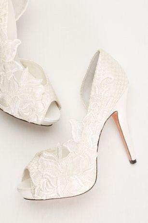 Menbur Scarpe Da Sposa.The Party Shoe Mariana Lace D Orsay Pump By Menbur Scarpe Da