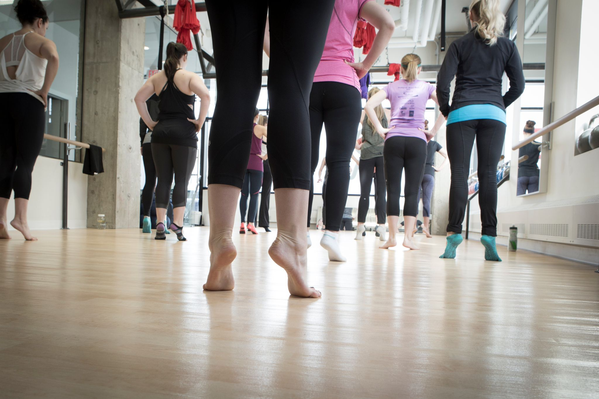 Fit Republic Calgary Ab Canada Is A Health Club Offers Many Classes Including Barre Classes With Alvas Wall Ballet Exercises Workout Warm Up Barre Workout