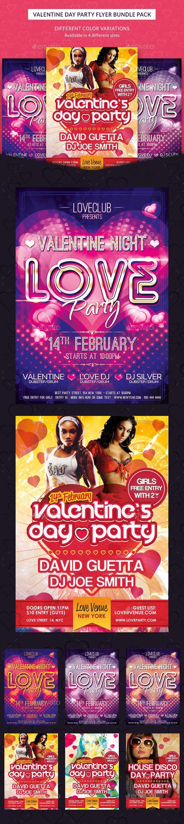 Download Valentine Day Party Flyer Bundle Pack | Valentines day ...