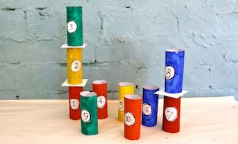 Toilet Roll Tower Of Numbers With Images Crafts For Kids Crafts Games For Kids