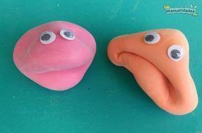 """Muñecos """"anti-estres"""" con globos y harina."""