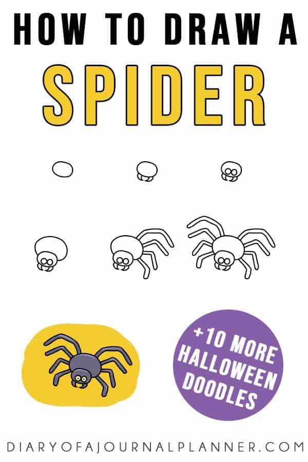 Easy Halloween Doodles (11 Spooky Step by Step Drawing