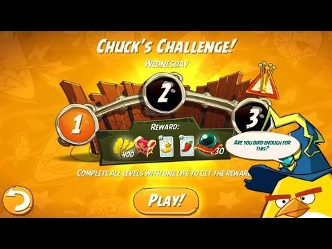 Angry Birds 2 Chuck S Challenge Wendesday Dialy Challenge Completed Daily Challenges Challenges Angry Birds