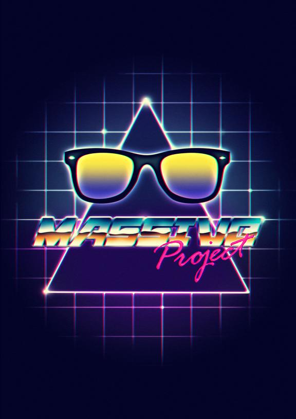 80s style: retrofuturism - sci fi - chrome - neon style by Maxi Vargas, via Behance