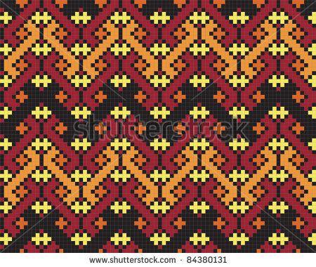 Ukrainian ethnic seamless ornament, #70, vector - stock vector