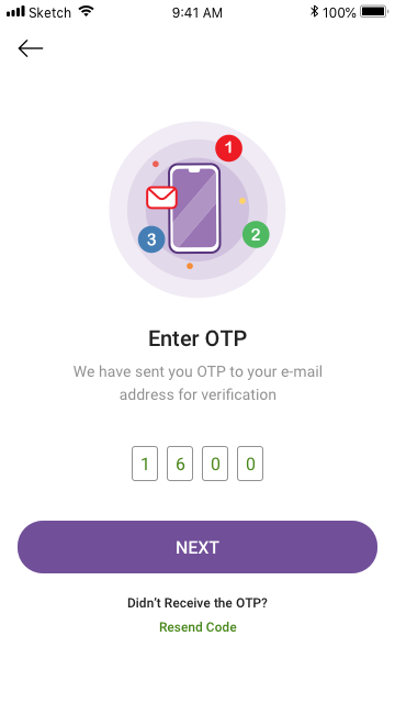 E Mail Otp Mobile App Mobile Application App Design