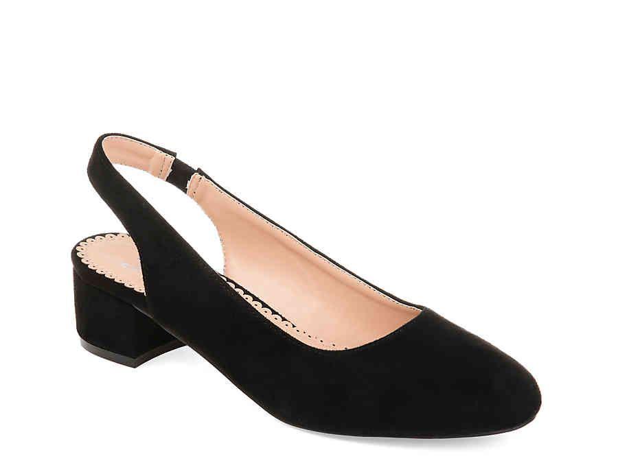dsw black block heel pumps